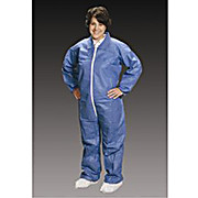 Critical Cover AlphaGuard Coveralls, Elastic Wrists and Ankles, Serged Seams, Blue, Sizes Small thru 5X-Large