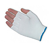 CleanTeam Medium Weight Seamless Knit Nylon Clean Environment Glove - Half-Finger, X-Large