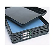 Metro Smart Tray System, ESD Tray Rubber Inlays, Blue Top with Black Bottom