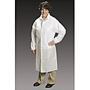 Critical Cover AlphaGuard Frock, Raglan Sleeves, Elatic Wrists, Snap Collar, Serged Seams, White, 2X-Large