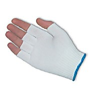 CleanTeam Medium Weight Seamless Knit Nylon Clean Environment Glove - Half-Finger