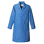 Statmaster Labcoat, Long, 3 Patch Pockets, Snaps at Front Opening and Sleeves, Nasa Blue