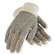 PIP Seamless Knit Cotton / Polyester Glove with Double-Sided PVC Dot Grip - 7 Gauge