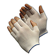 CleanTeam Light Weight Seamless Knit Nylon Clean Environment Glove - Half-Finger