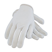 CleanTeam 40 Denier Tricot Nylon Inspection Glove with Rolled Hem Cuff - Men's