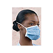 Critical Cover, PFL ( Postive Facial Lock ), Headband Face Masks with Magic Arch Supports, Blue, White, Cleanroom Bagged