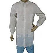 EPIC Premium Polypropylene Labcoats, Knit Wrists and Collar, Snap Front, 3 Pockets