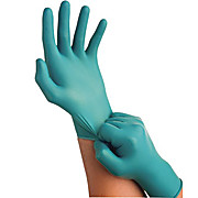 Touch N Tuff  Nitrile Gloves, Disposable, Powder Free, Teal, 9.5""