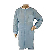 EPIC Spunbonded-Meltblown Polypropylene (SMS) Heavyweight Labcoat, 3 Pockets, Knit Wrists and Collar, Blue, 7X-Large
