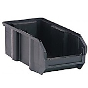 Ultra Stack and Hang Bin, Black, 10.25 x 4.375 x 4.75