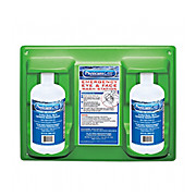 Pac-Kit Eye Wash Station, Twin Bottles 32 oz. with Eye Cup