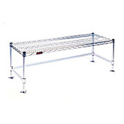 Wire Gowning Bench, Chrome Plated - 14W x 48L x 18H