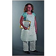 Apron, Disposable PE Coated Polypropylene, White 28x36