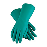 Assurance Unsupported Nitrile, Flock Lined with Raised Diamond Grip - 15mil, Green, X-Large