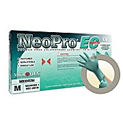 NeoPro EC Chloroprene Powder Free Examination Gloves, Green, Extended Cuff