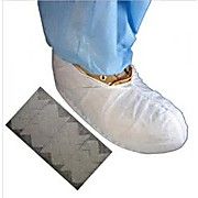 Cleanroom Shoecover, Non-Skid, Polypropylene, Seam Inside, Double Bagged, White, Non-Conductive