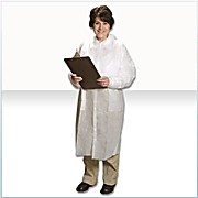 Critical Cover GenPro Lab Coats, Tapered Collar, No Pockets, Elastic Wrists, Serged Seams, White, Sizes Small thru 4X-Large