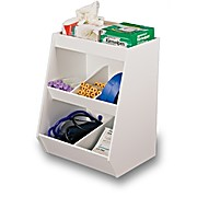 MRI Five Fixed Compartment Storage Bin with One Shelf