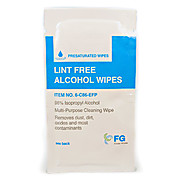 "8"" x 6"" Lint Free Alcohol Wipes - 96% IPA Individually Wrapped Sachets"