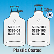 Bottle, Solution, Plastic Coated