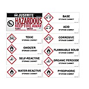 Replacement/Retrofit Label Pack for Hazardous Material Cabinets