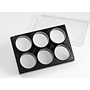 Corning 6 Well Black Clear Round Bottom Ultra-Low Attachment Micro-Cavity Plate