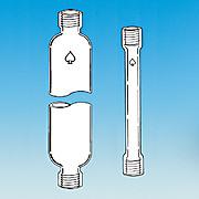 stonylab Glass Chromatography Column 300mm Effective Length 50mm Column O.D. Borosilicate Glass 24//40 Joint Chromatography Column with Fritted Disc and PTFE Stopcock