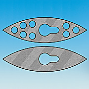 Stirrer Blades, Football Shaped, Stainless, 10mm Shafts