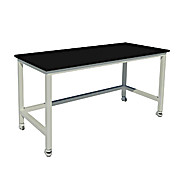 Fixed Height Heavy Duty Steel Table with Vibration Isolation Casters