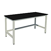 Fixed Height Heavy Duty Steel Tables with Phenolic Work Surfaces and Leveling Glides