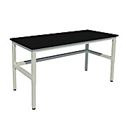 Adjustable Height, Heavy Duty Steel Table