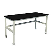 Adjustable Height, Heavy Duty Steel Table with Vibration Isolation Casters