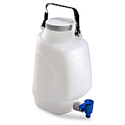 Rectangular Carboys with Spigot and Handles, HDPE