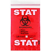 Lab Guard® Recloseable Specimen Bags, STAT