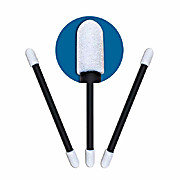 Cleanroom Black Handle Swabs 920 Double Round Head Foam Swab