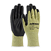 CUT RESISTANT SEAMLESS KNIT ARAMID GLOVE WITH NITRILE COATED SMOOTH GRIP ON PALM AND FINGERS, PPE LEVEL 1, 1DZ, LG - 6DZ/CS
