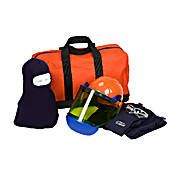 PPE 2 Arc Flash Kit - 12 Cal/cm2 JACKET/OVERALLS/BALACLAVA, ARC SHEILD, SAFETY GLASSES, HARD HAT & CARRYING BAG LARGE
