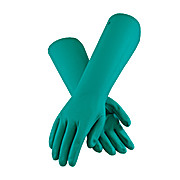 Gloves, PIP, Assurance Unsupported Nitrile Chemical Gloves, Large, Green, 22 Mil 18 Inch Cuff Length, Unlined, Sandpatch Grip, 12PR/dz