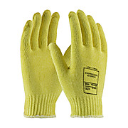 Gloves, DuPont Kelver, 7 Guage, Size Medium, Uncoated, Medium Weight, Knit Wrist, Yellow, Cut Resistant Sold by case.. 12dz/cs