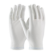 CleanTeam Heavy Weight Stretch Nylon Inspection Glove with Zig-Zag Stitched Rolled Hem - Men's