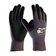 MaxiDry Ultra Lightweight Nitrile Glove, Palm Dipped with Seamless Knit Nylon / Lycra Liner and Non-Slip, X-Large