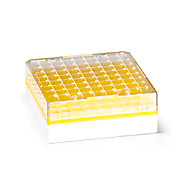 81 Place Yellow Polycarb Freezer Box for 1.0/2.0ml Tubes